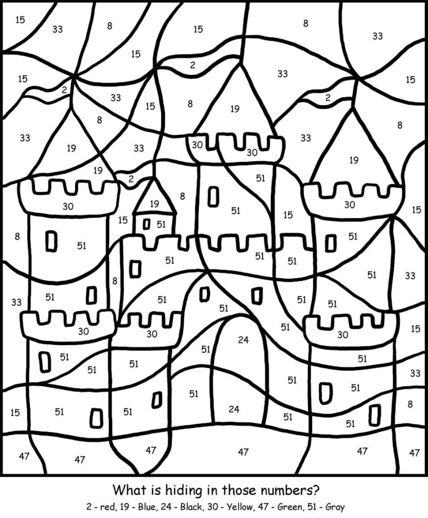Free Printable Colornumber Coloring Pages - Best Coloring Pages | Free Printable Coloring Worksheets For Kindergarten