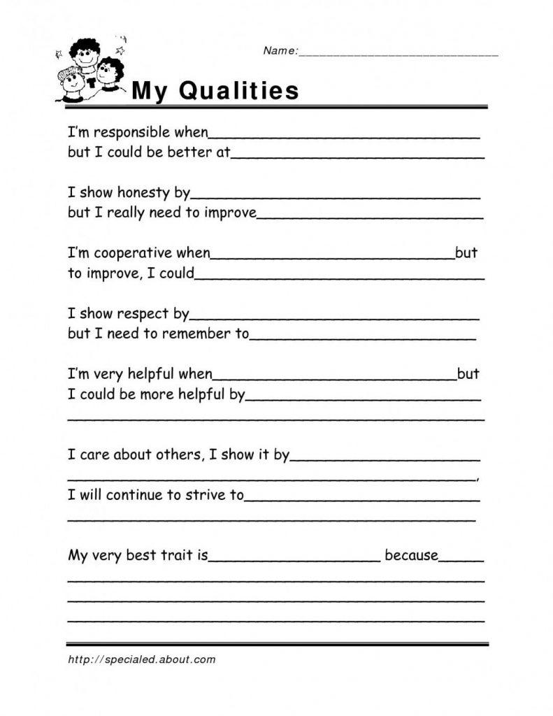 Free Printable Coping Skills Worksheets Free Printable Coping Skills | Free Printable Coping Skills Worksheets