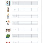 Free Printable Cvc Words Writing Worksheets For Kids   Three Letter | Cvc Words Worksheets Free Printable