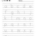 Free Printable Dash Trace Handwriting Worksheet For Kindergarten | Free Printable Handwriting Worksheets For Preschool