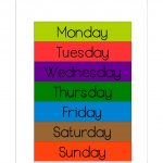 Free Printable Days Of The Week Workbook And Poster | The Resources | Free Printable Kindergarten Days Of The Week Worksheets
