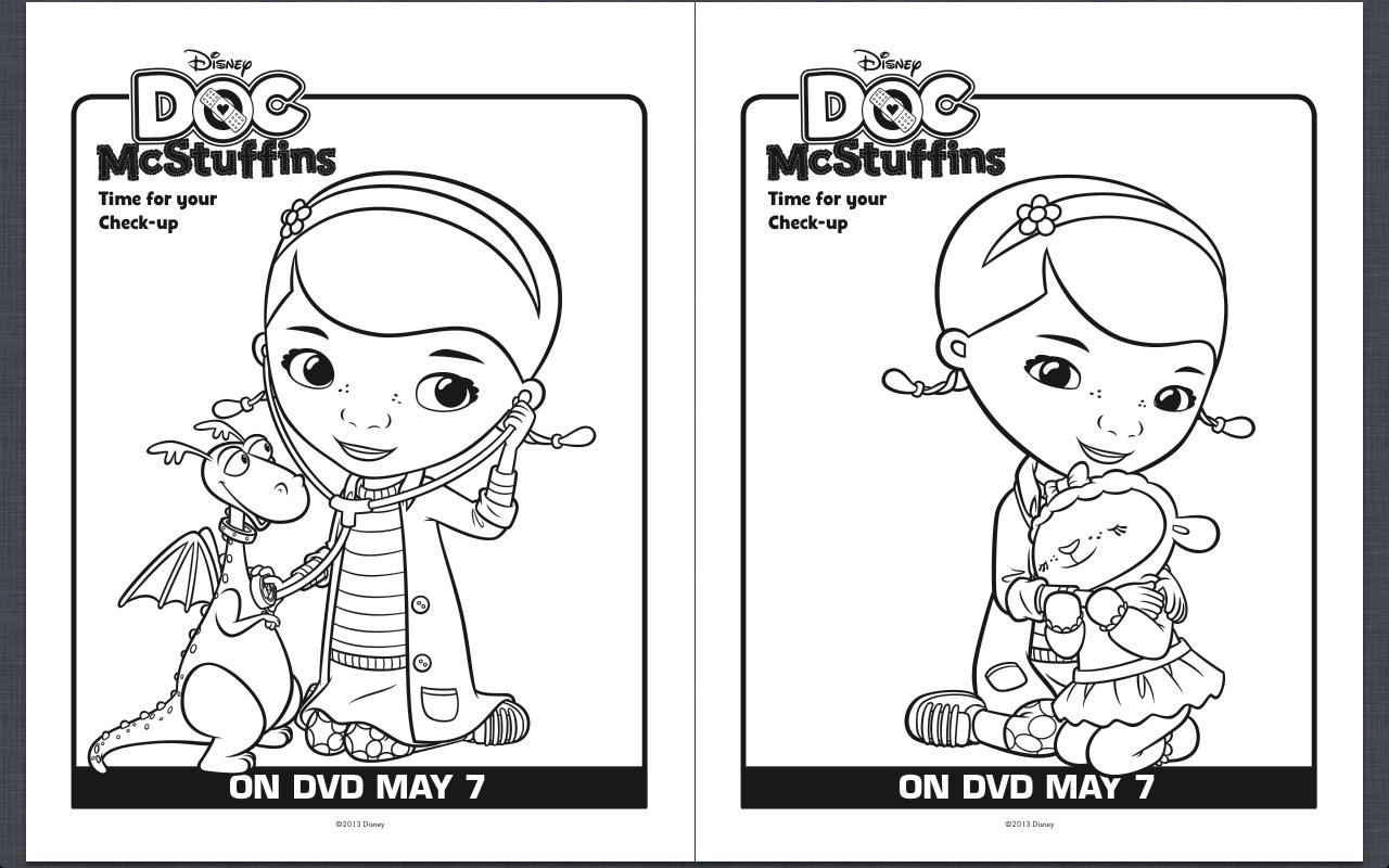 Free Printable Doc Mcstuffins Coloring Pages - Classy Mommy | Doc Mcstuffins Printable Worksheets