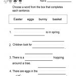 Free Printable Easter Reading Worksheet For Kindergarten Worksheets | Free Printable Economics Worksheets