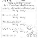 Free Printable English Comprehension Worksheet For Kindergarten | Printable English Worksheets