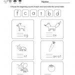 Free Printable Free Phonics Worksheet For Kindergarten | Kindergarten Worksheets Free Printables Phonics