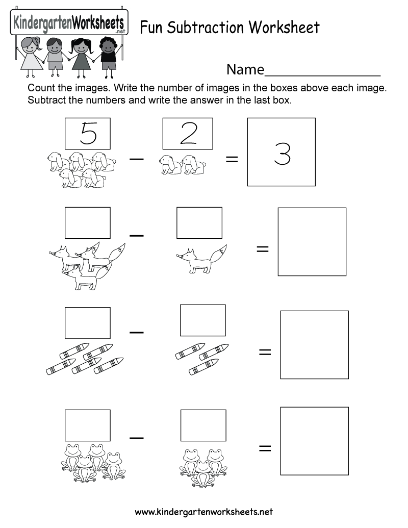 Free Printable Fun Subtraction Worksheet For Kindergarten | Free Printable Fun Worksheets For Kindergarten