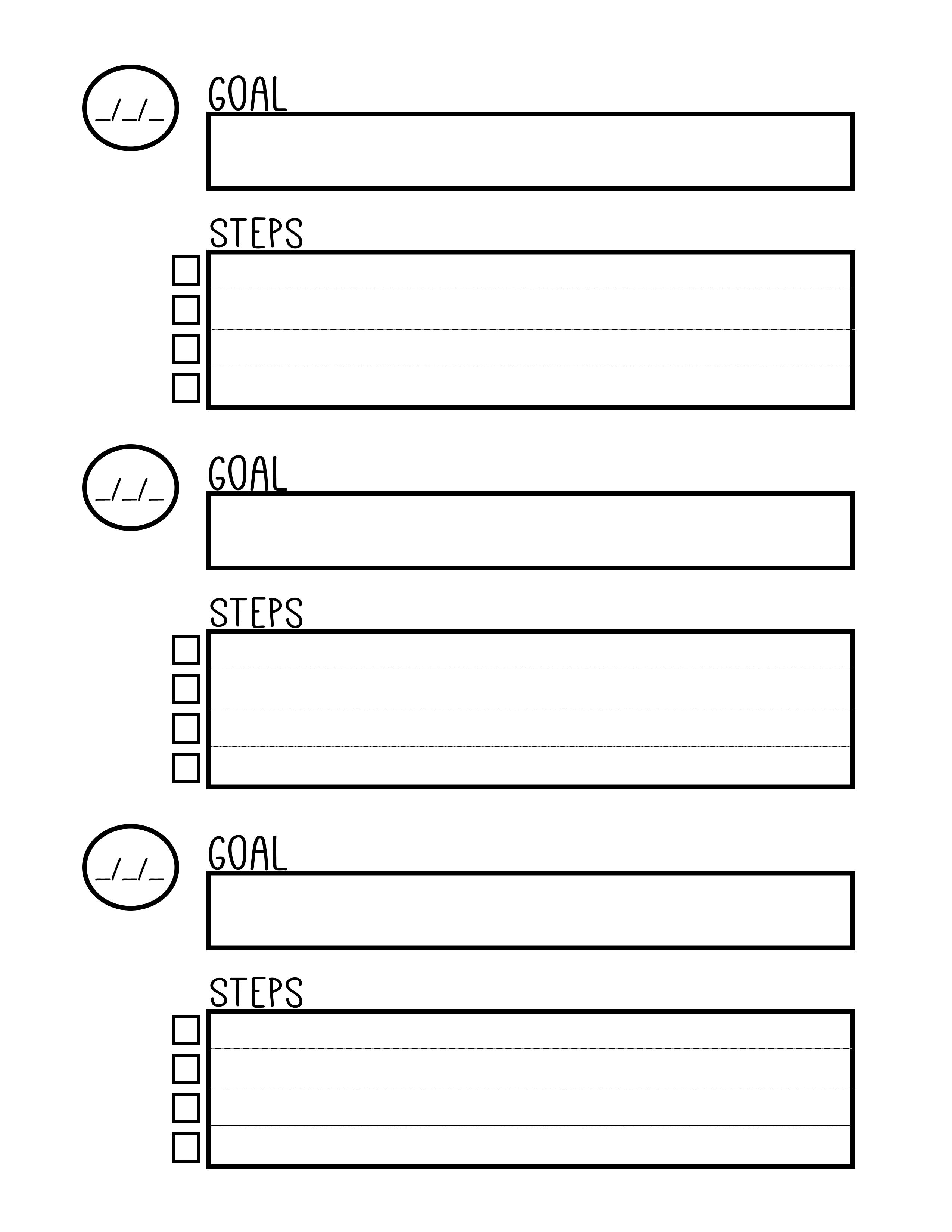 Free Printable Goal Setting Worksheet - Planner … | Education | Free Printable Goal Setting Worksheets For Students