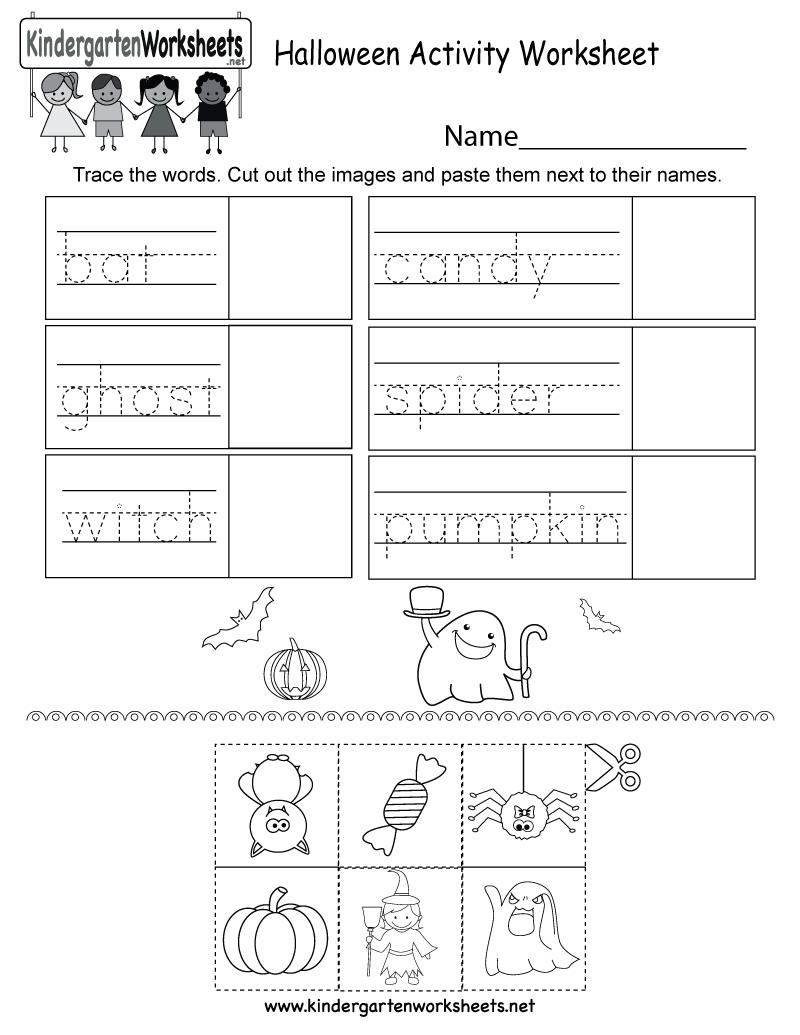 Free Printable Halloween Activity Worksheet For Kindergarten | Free Printable Kid Activities Worksheets