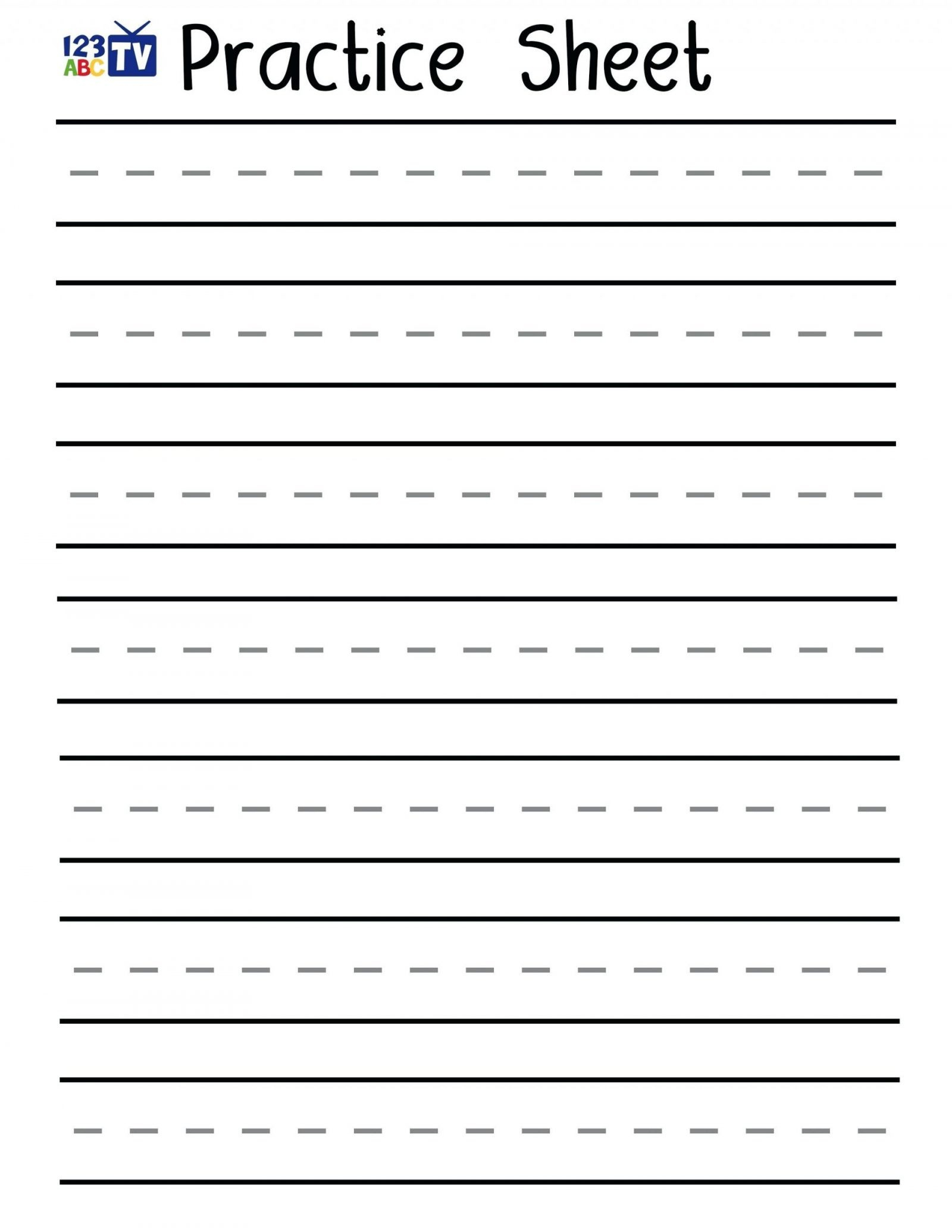 Free Printable Handwriting Sheets For Kindergarten | Free Printables | Free Printable Handwriting Worksheets For Kids