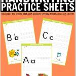 Free Printable Handwriting Worksheets Including Pre Writing Practice | Free Printable Handwriting Worksheets