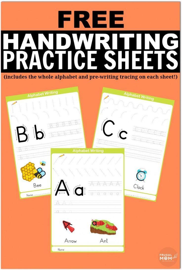 Free Printable Handwriting Worksheets Including Pre-Writing Practice | Free Printable Worksheets Handwriting Practice