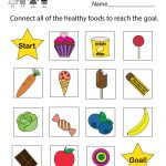 Free Printable Health Education Worksheet For Kindergarten | Free Printable Healthy Eating Worksheets