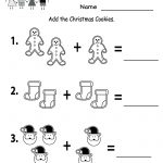Free Printable Holiday Worksheets | Free Christmas Cookies Worksheet | Christmas Worksheets Printables For Kindergarten