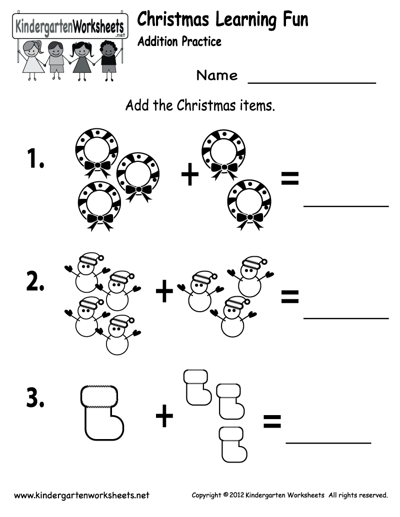 Free Printable Holiday Worksheets | Free Printable Kindergarten | Free Printable Holiday Math Worksheets