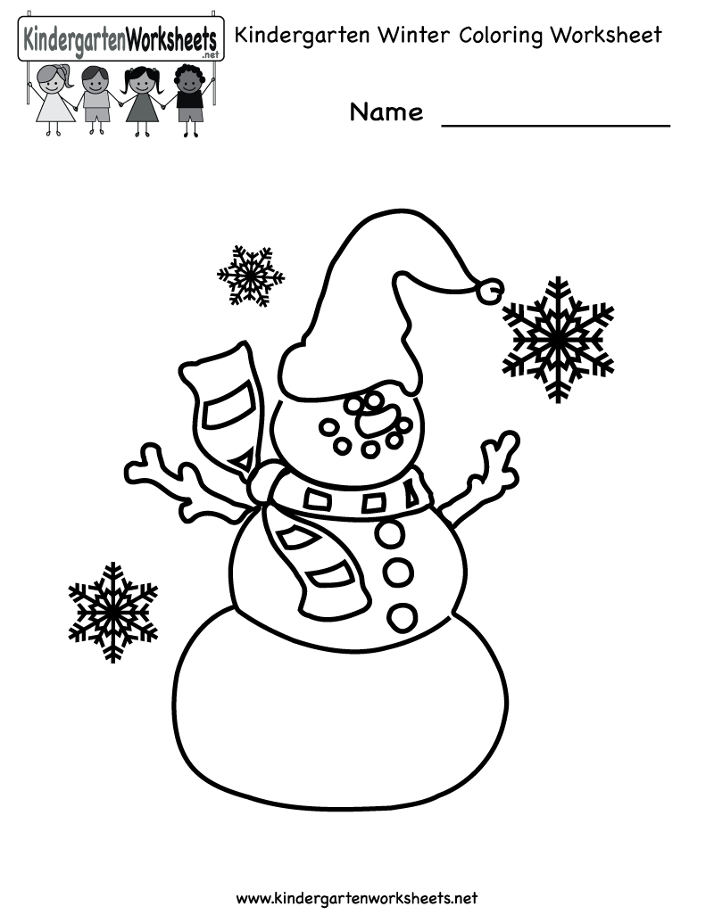 Free Printable Holiday Worksheets | Kindergarten Winter Coloring | Winter Holidays Worksheets Printables