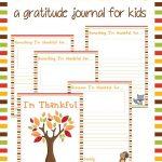 "Free Printable ""i'm Thankful"" Gratitude Journal For Kids | Free Printable Gratitude Worksheets"