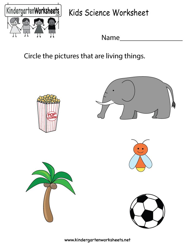 Free Printable Kids Science Worksheet For Kindergarten | Free Printable Worksheets For Kids Science