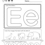 Free Printable Letter E Coloring Worksheet For Kindergarten | Letter E Printable Worksheets