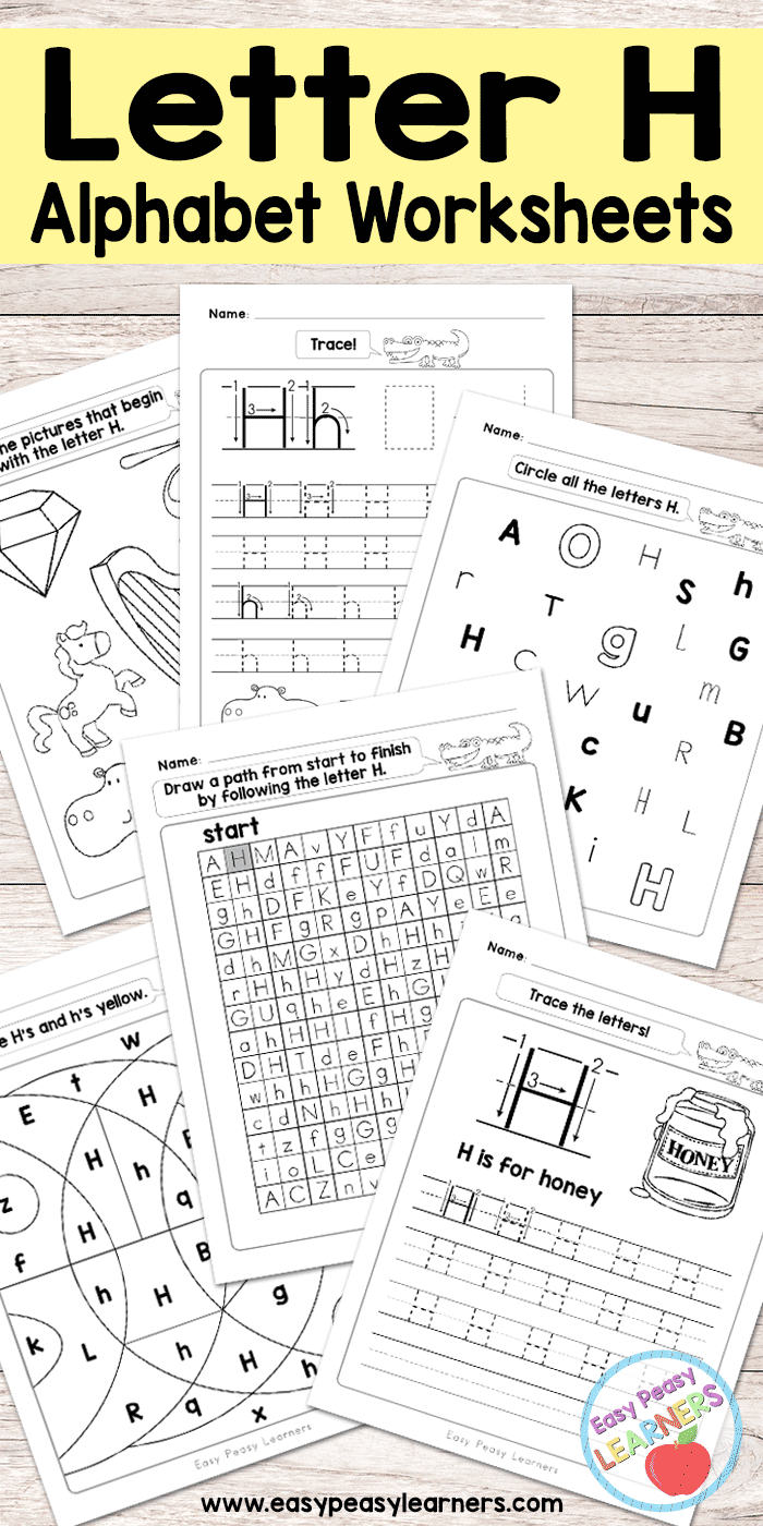 Free Printable Letter H Worksheets - Alphabet Worksheets Series | Free Printable Letter Recognition Worksheets
