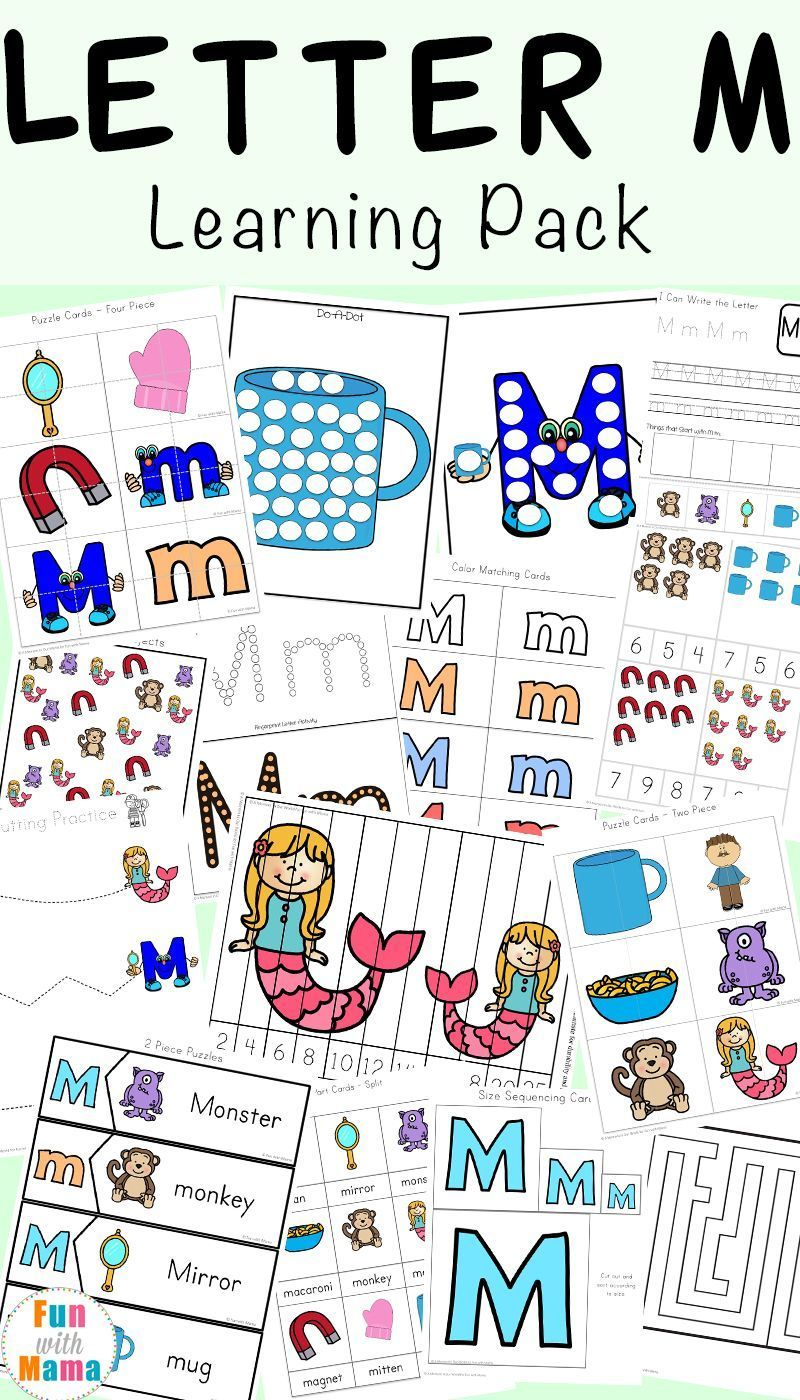 Free Printable Letter M Activities For Preschool, Toddlers And | Free Printable Arts And Crafts Worksheets