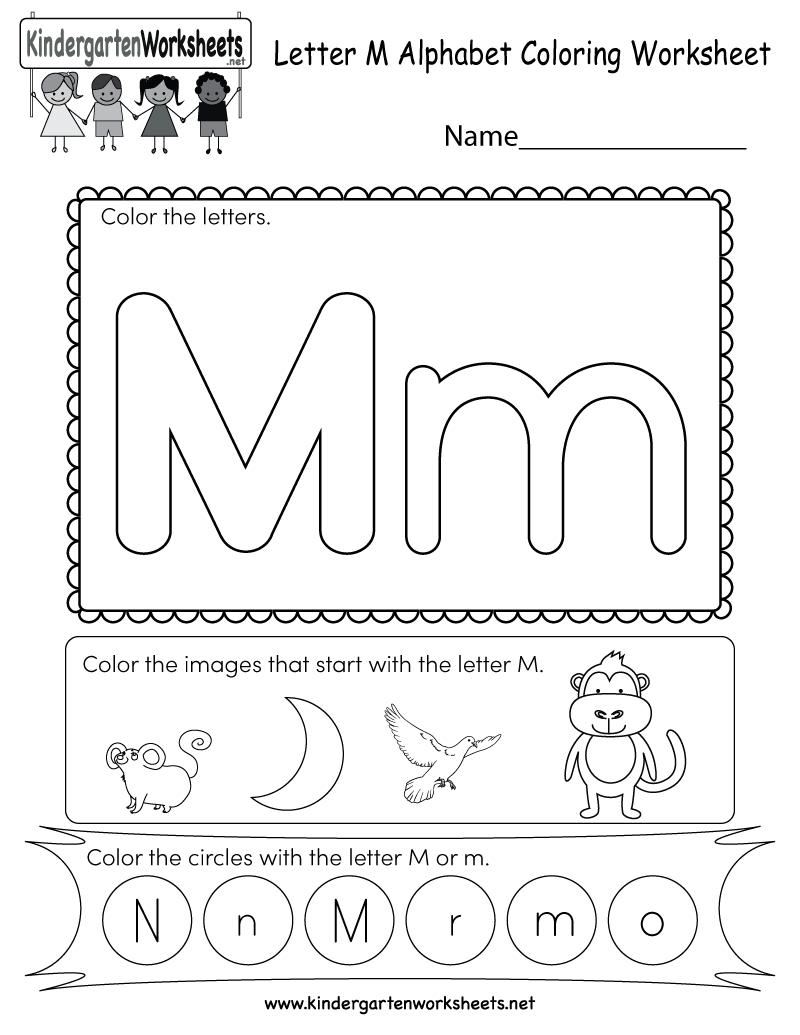 Free Printable Letter M Coloring Worksheet For Kindergarten   Letter M Printable Worksheets