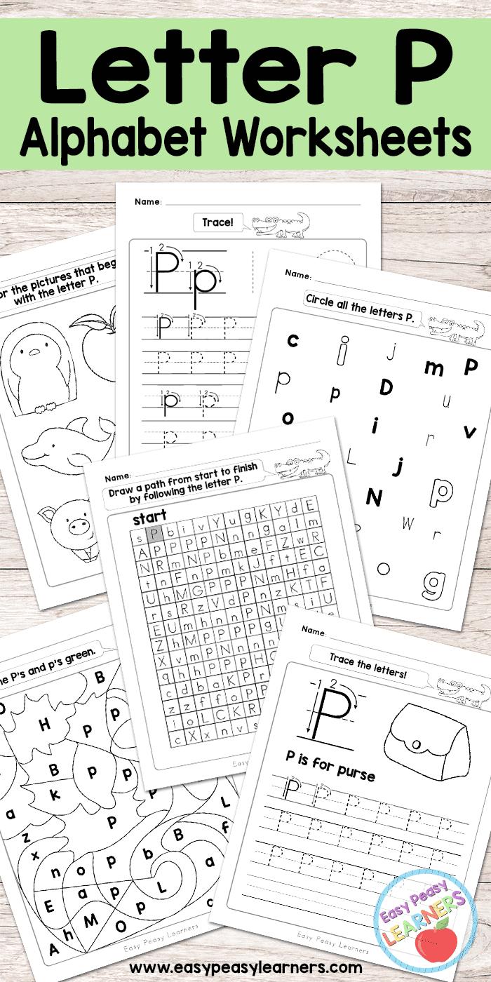 Free Printable Letter P Worksheets - Alphabet Worksheets Series | Free Printable Letter P Worksheets