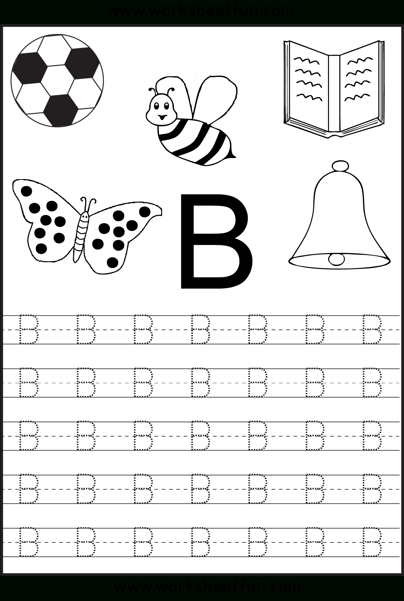 Free Printable Letter Tracing Worksheets For Kindergarten – 26 | Free Printable Abc Tracing Worksheets