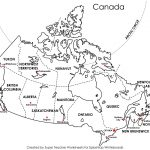 Free Printable Map Canada Provinces Capitals   Google Search | Free Printable Map Of Canada Worksheet