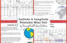 Latitude Longitude Printable Worksheets