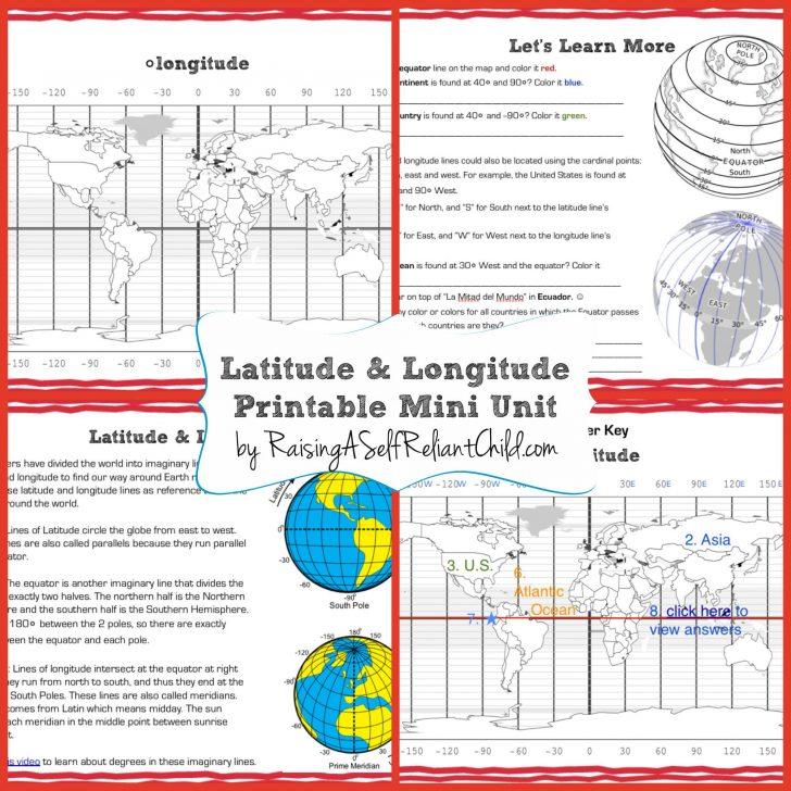 Latitude Longitude Printable Worksheets