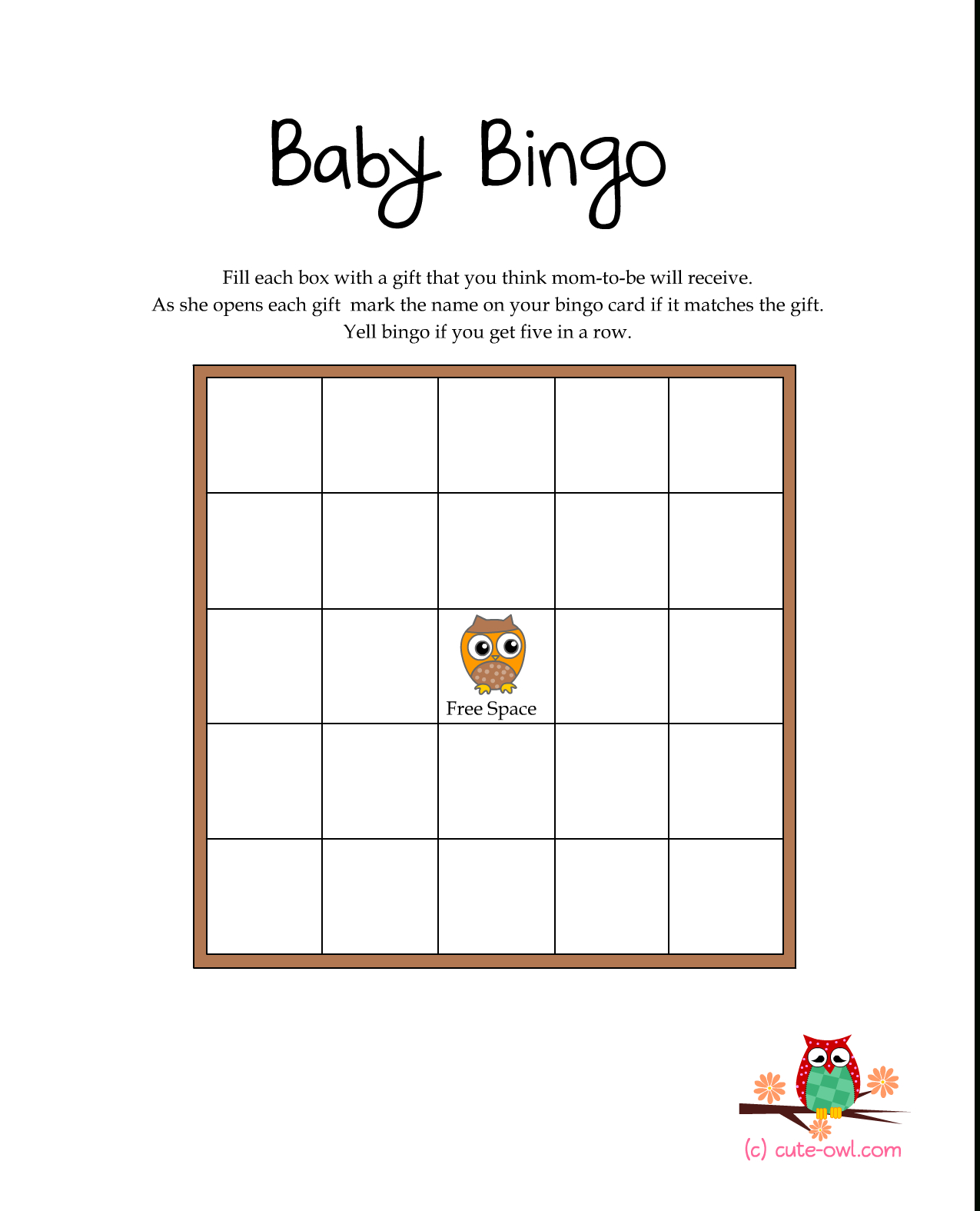 Free Printable Owl Themed Baby Shower Games | Woodland Animal Themed | Owl Babies Printable Worksheets