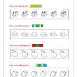 Free Printable Pattern Recognition Worksheets   Color Patterns | Free Printable Ab Pattern Worksheets