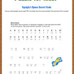Free Printable Secret Code Word Puzzle For Kids. This Puzzle Has A | Crack The Code Worksheets Printable Free