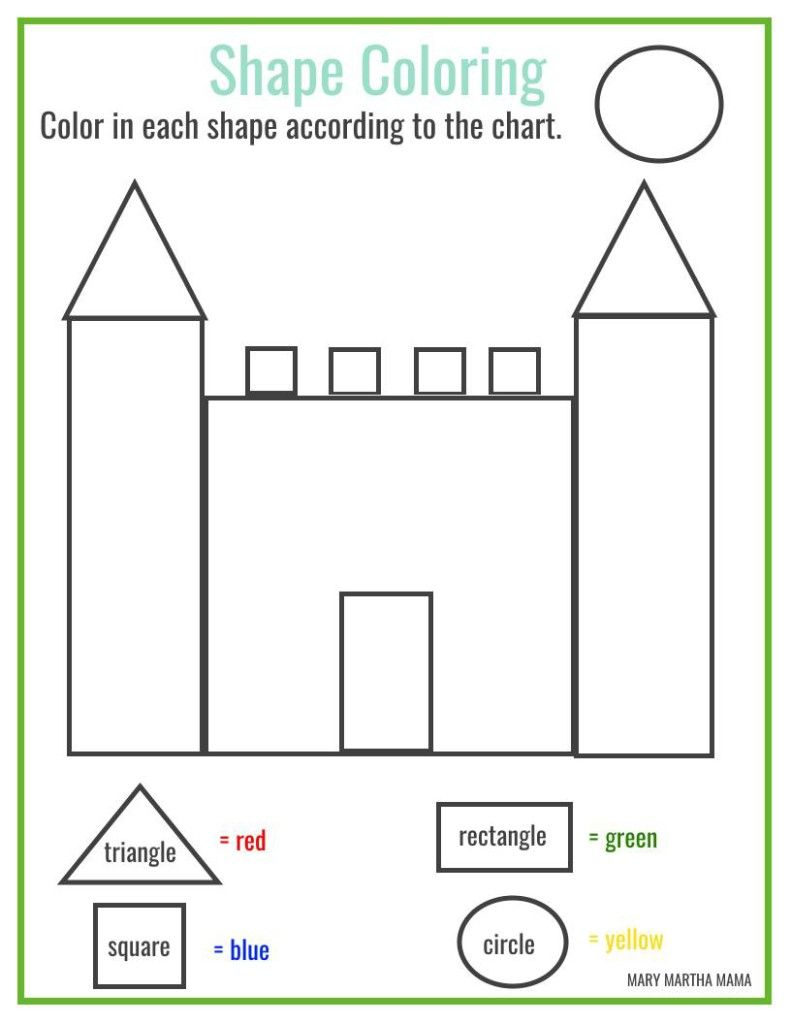 Free Printable Shape Coloring Printable | Kbn Learning Activities | Free Printable Shapes Worksheets For Kindergarten