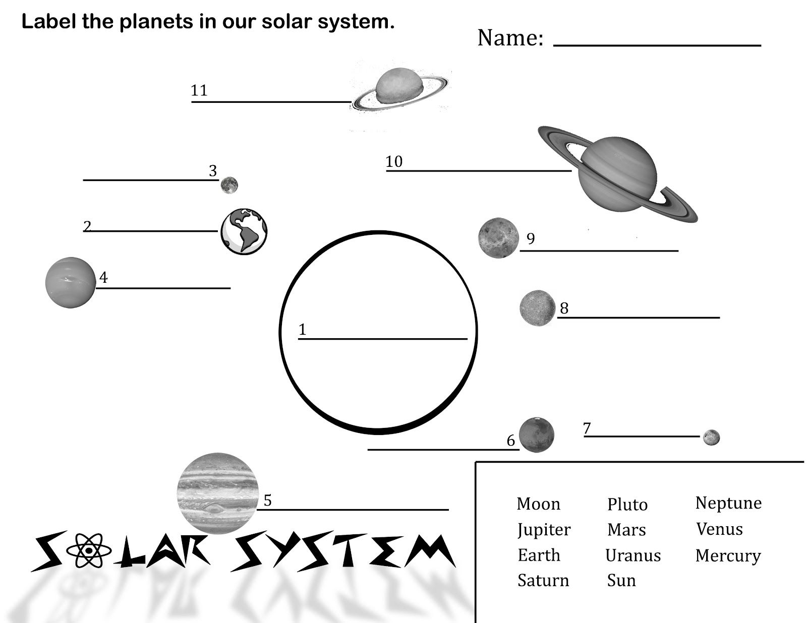 Free Printable Solar System Coloring Pages For Kids | Science | Free Printable Solar System Worksheets