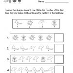 Free Printable Spring Patterns Worksheet For Kindergarten   Free | Free Printable Spring Worksheets For Kindergarten
