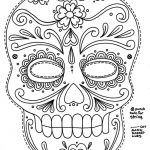 Free Printable Sugar Skull Day Of The Dead Mask. Could Use To Make | Free Printable Day Of The Dead Worksheets