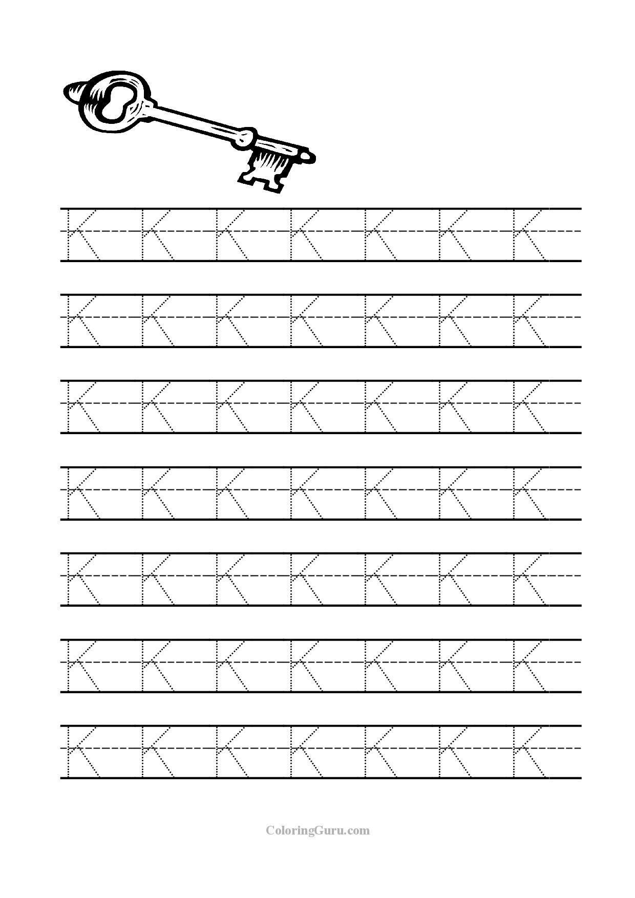 Free Printable Tracing Letter K Worksheets For Preschool | Kids | Letter K Worksheets Printable