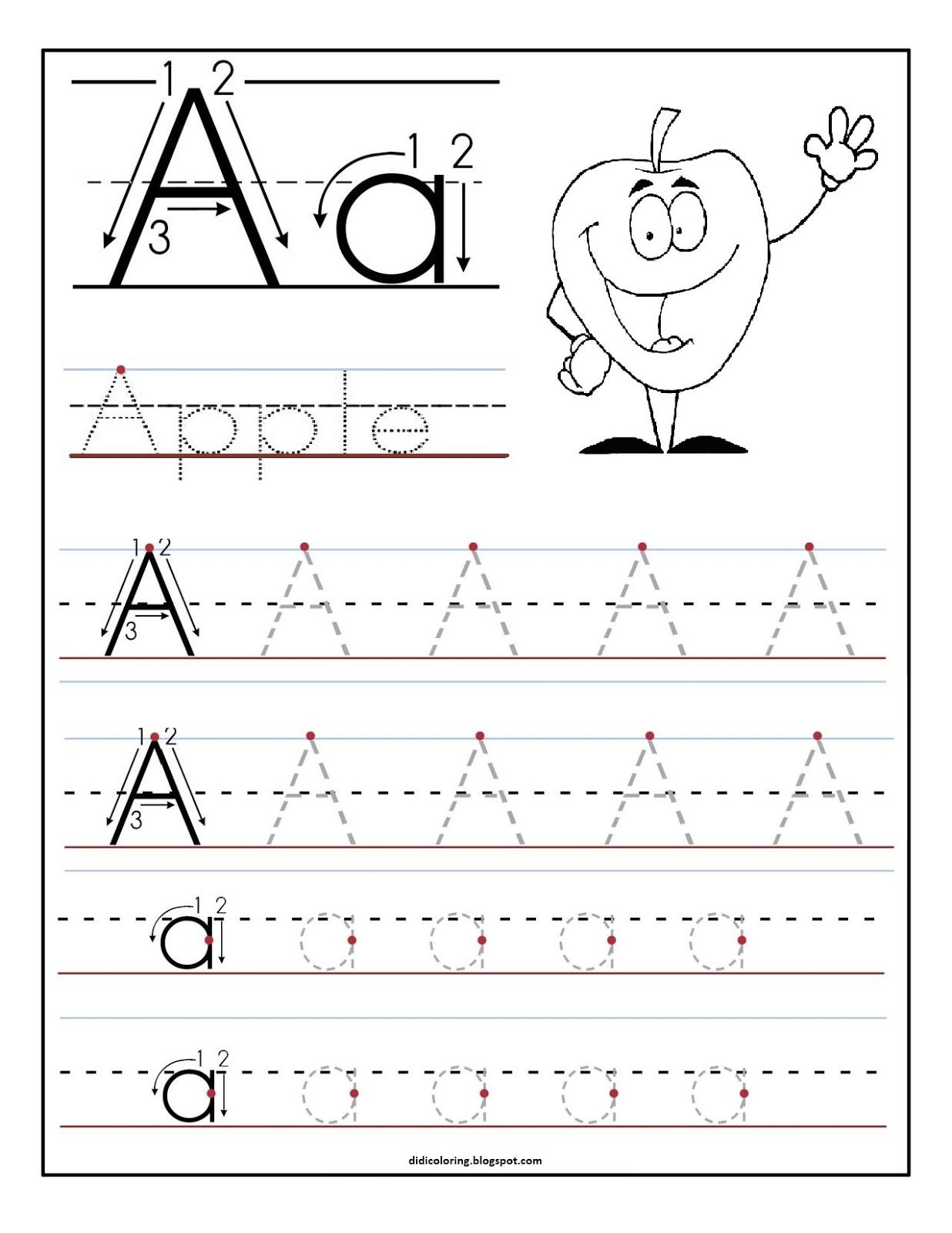 Free Printable Worksheet Letter A For Your Child To Learn And Write | Learn Your Letters Printable Worksheets