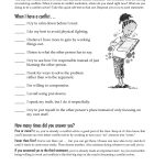 Free Printable Worksheet: When I Have A Conflict. A Quick Self Test | Free Printable Self Control Worksheets