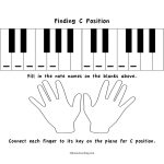 Free Printables: C Position Worksheets   4Dpianoteaching | Blank Keyboard Worksheet Printable