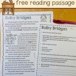 Free Reading Comprehension Passage: A Ruby Bridges Worksheet   The | Ruby Bridges Printable Worksheets