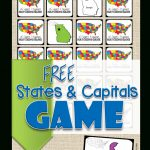 Free State Capitals Game | 123 Homeschool 4 Me | Free Printable States And Capitals Worksheets