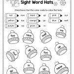Free Winter Literacy Worksheet For Kindergarten (No Prep | Alina V | Free Printable Kindergarten Worksheets Color Words