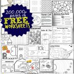 Free Worksheets   200,000+ For Prek 6Th | 123 Homeschool 4 Me | Homeschool Printable Worksheets Kindergarten