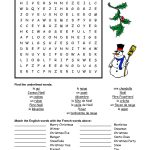 French Christmas Word Search   Google Search | French   Christmas | Free Printable Christmas Worksheets Ks2