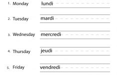 French Days Of The Week Worksheet – Free Printable Educational Worksheet | Free Printable French Worksheets For Grade 4