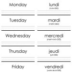 French Worksheets   Google Search For Days Of The Week | Printable French Worksheets Days Of The Week