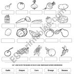 Fruits And Vegetables   Esl Worksheetandresdomingo | Vegetables Worksheets Printables