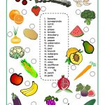 Fruits And Vegetables Worksheet   Free Esl Printable Worksheets Made | Vegetables Worksheets Printables